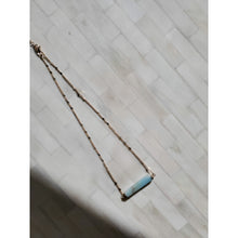 "Load image into Gallery viewer, ""Joey"" Seafoam Natural Stone Necklace"