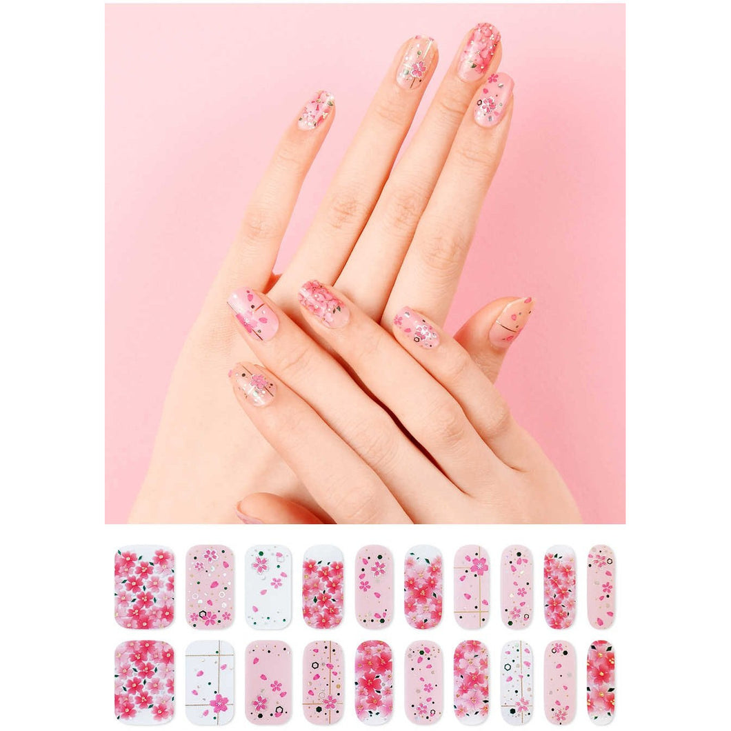 Gel Nail Stickers - Cherry Blossom