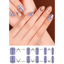Load image into Gallery viewer, Gel Nail Stickers - Simple Lines (Lilac)