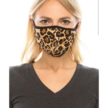 Load image into Gallery viewer, Cotton Leopard Printed Re-usable Face Mask (Filter Pocket)
