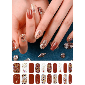 Gel Nail Stickers - Terracotta Mosaic