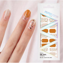Load image into Gallery viewer, Gel Nail Stickers - Shattered Stones (Tangerine/Pink/Olive)