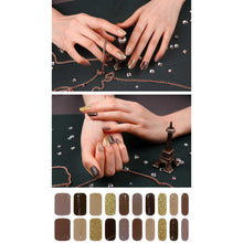 Load image into Gallery viewer, Gel Nail Stickers - Bling Beige Wave