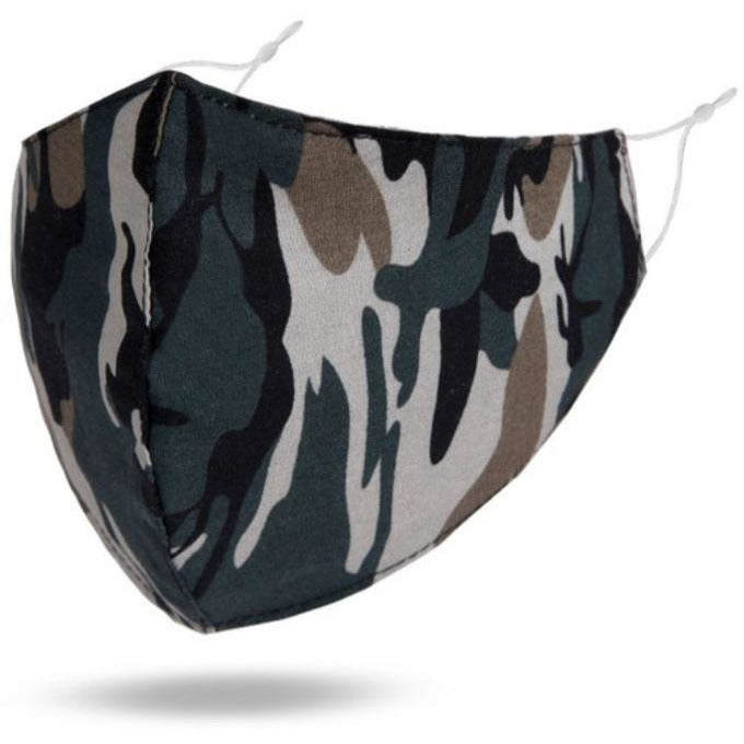 Reusable Cotton Face Mask (Camouflage)