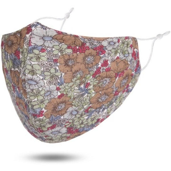 Reusable Cotton Face Mask (Fuchsia-Multi Floral)