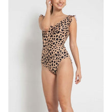 "Load image into Gallery viewer, ""Leonna"" One-Piece Leopard Swimming Suit"