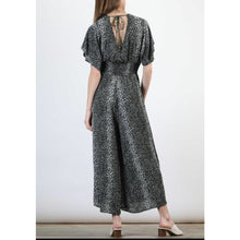 "Load image into Gallery viewer, ""Katie"" Leopard Kimono Sleeve Jumpsuit"
