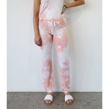 "Load image into Gallery viewer, ""Blush Babe"" Tie-dye Stars Sweatpants"