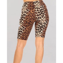 "Load image into Gallery viewer, ""Brandy"" Leopard Biker Shorts"