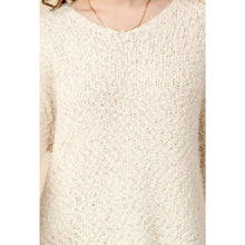 "Load image into Gallery viewer, ""Cozy In Bed"" V-neck Tunic Sweater"