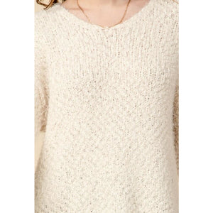 """Cozy In Bed"" V-neck Tunic Sweater"