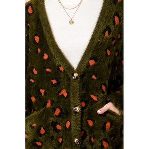 """Nancy"" Soft & Fuzzy Leopard Cardy"