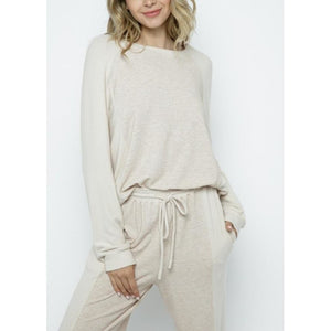 """Caitlyn"" Soft Knit Loungewear - Relaxed Top"