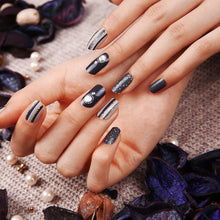 Load image into Gallery viewer, Gel Nail Stickers - Vertical Beams (Navy)