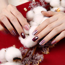 Load image into Gallery viewer, Gel Nail Stickers - Vertical Beams (Burgundy)