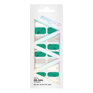 Gel Nail Stickers - Marble (Turquoise)
