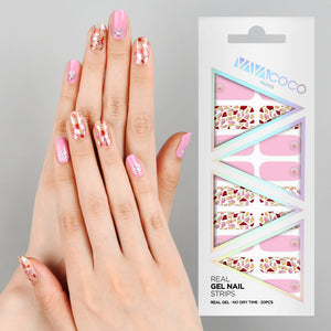 Gel Nail Stickers - Mosaic (Pink)