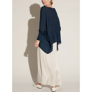 """Emory"" Smocked Sleeve Blouse -  Midnight"