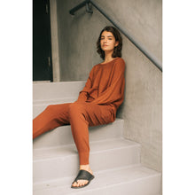 "Load image into Gallery viewer, ""Carefree"" Relaxed Fit Ribbed Sweater - Sienna"