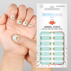 Gel Nail Stickers (Kids) - Teddy Bear