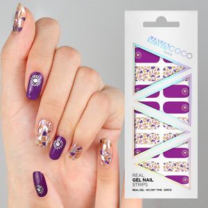 Copy of Gel Nail Stickers - Mosaic (Purple)
