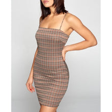 "Load image into Gallery viewer, ""Cool Girl"" Mini Plaid Dress"