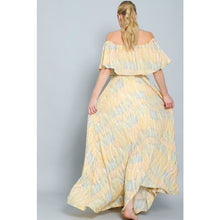 "Load image into Gallery viewer, ""Island Babe"" Printed Off-Shoulder Maxi Dress"