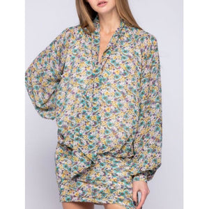 """Romantic Moments"" Printed Blouson Dress"