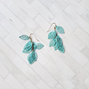 Elsa Leaves Drop Earring
