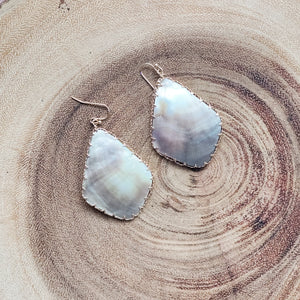 Simple Abalone Shell Earring