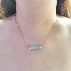 """Joey"" Seafoam Natural Stone Necklace"