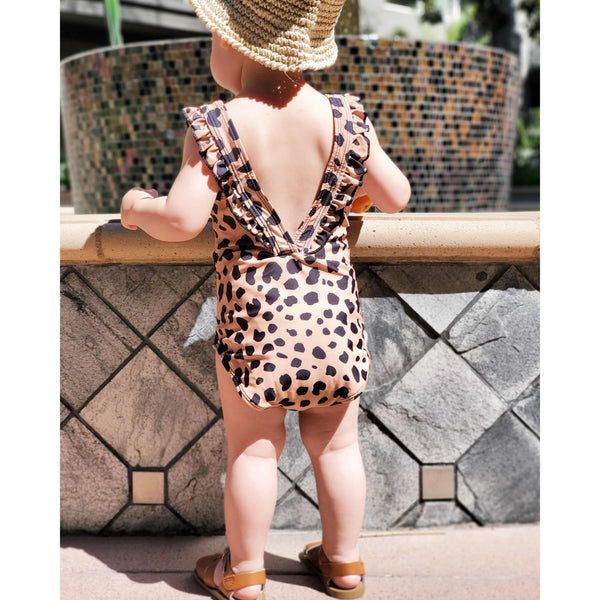 """Leah-Bebe"" One-piece Leopard Swimming Suit (Kids)"