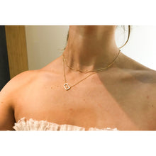 "Load image into Gallery viewer, ""That Girl"" Initial Gold Color Plated Necklace"