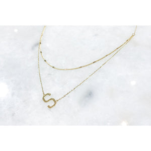 """That Girl"" Initial Gold Color Plated Necklace"