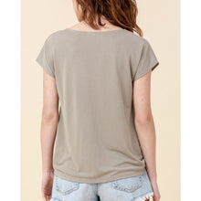 "Load image into Gallery viewer, ""Keira"" V-neck Twist-Front Modal Top"