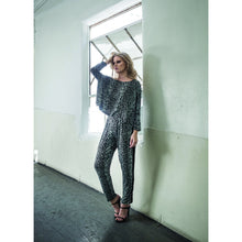 "Load image into Gallery viewer, ""Travis"" Sky Leopard Jersey Relaxed Pants"