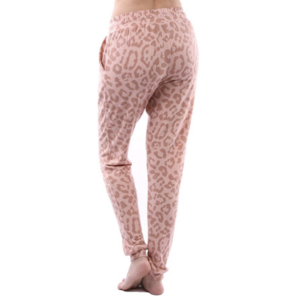 """Forever Yours"" Pink Leopard Sweatpants"