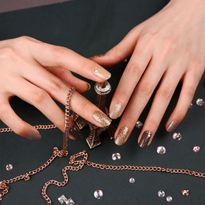 Gel Nail Stickers - Bling Beige Wave