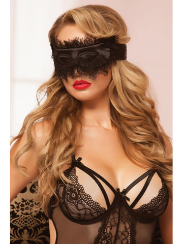 Seven Til Midnight Eyelash Blindfold 40135-Black-OS(BG)
