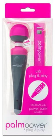 Palm Power Plug and Play Body Massager Pink and Black