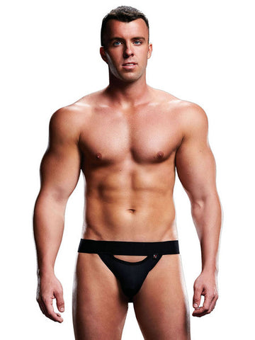 Envy Low Rise Open Back Jock E065 Black Medium/Large