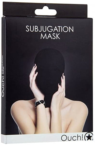 Ouch Subjugation Mask Black Hood Mask