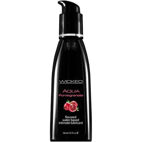 Wicked Aqua Flavoured Lube 60ml - Pomegranate