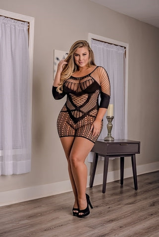 Exposed Lingerie - Club Seamless Dress S833 Queen Size