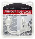 Perfect Fit Armour Tug Lock Cock Ring Standard Clear - Intense Anal Stimulation-Bigger Bulge-Harder Erection-Prolonged Orgasm