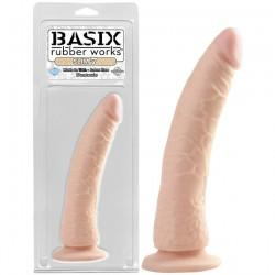 Basix Rubber Works Slim Dong 7in. Flesh with Suction Cup