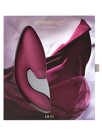 Womanizer DUO Bordeaux G Spot Rechargeable Vibrator With Pleasure Air Technology