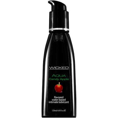 Wicked Aqua Flavoured Lube 120ml Candy Apple