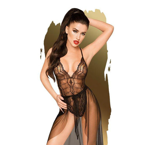 Penthouse Lingerie Best Foreplay Teddy With Skirt - Black S/M