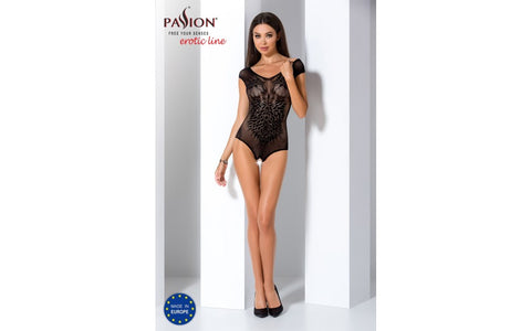 Passion Lingerie Erotic Line Open Crotch Teddy BS64 OS - Black